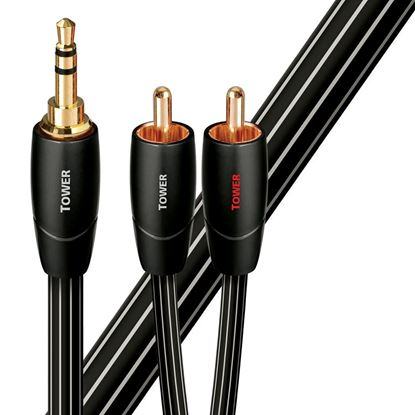 Picture of AUDIOQUEST Tower 3M 3.5mm to 2 RCA. Solid Long Grain Copper.
