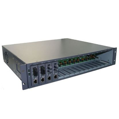 Picture of CTS 16 Slot Universal Media Converter Rack, 19' rack mountable.