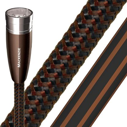 Picture of AUDIOQUEST Mackenzie 0.5M XLR to XLR Pair. Solid perf surface copper