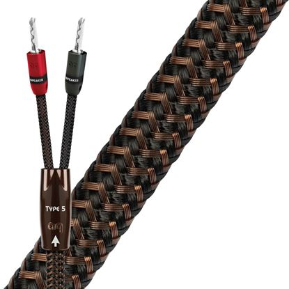 Picture of AUDIOQUEST TYPE 5 2M pair speaker cable. Banana - banana. 15 AWG.