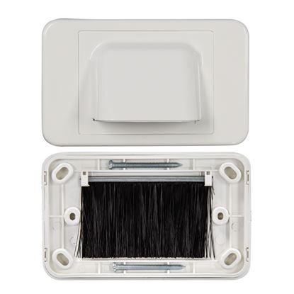 Picture of DYNAMIX AV Bull Nose Brush Plate. 2 Piece. White Colour.