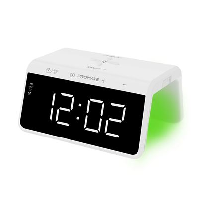 Picture of PROMATE LED Alarm Clock & RGB Night Light with Built-in 10W Qi Charger