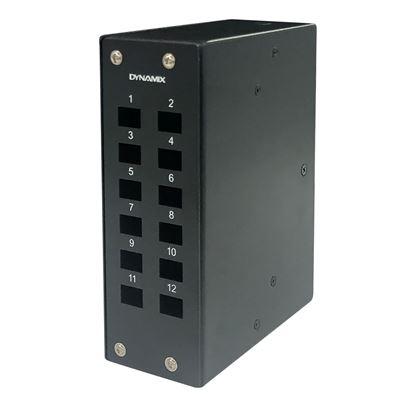 Picture of DYNAMIX 12 Port DIN Rail Fibre Enclosure LC Duplex / SC Simplex.