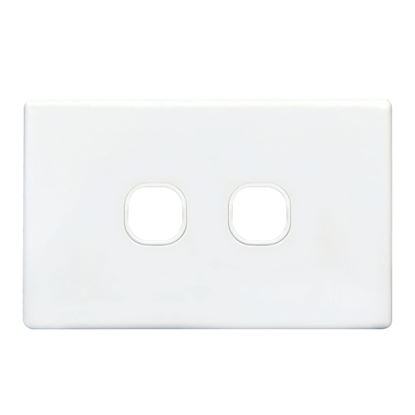 Picture of TRADESAVE Switch Plate ONLY. 2 Gang Accepts all Tradesave Mechanisms.