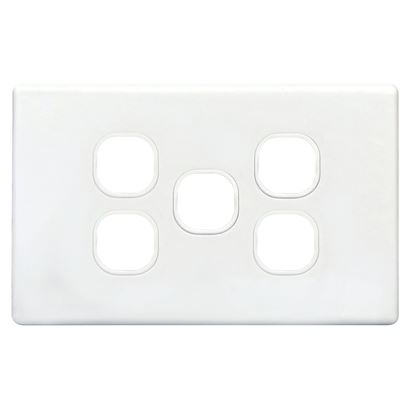 Picture of TRADESAVE Switch Plate ONLY. 5 Gang Accepts all Tradesave Mechanisms.