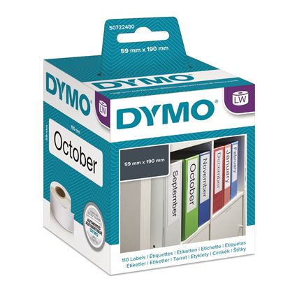 Picture of DYMO Genuine LabelWriter Lever Arch File Labels 59mm x 190mm
