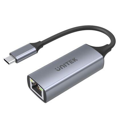 Picture of UNITEK USB-C 3.1 to Gigabit Ethernet 5Gbps Aluminium Adapter.