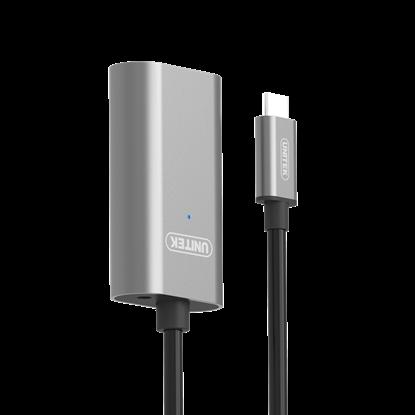 Picture of UNITEK 5m USB 3.1 USB-C Active Extension Cable. USB-C Male to