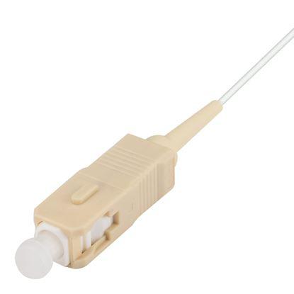 Picture of DYNAMIX 2M SC Pigtail OM1 1x Piece White, 62.5/900um Multimode Fibre,