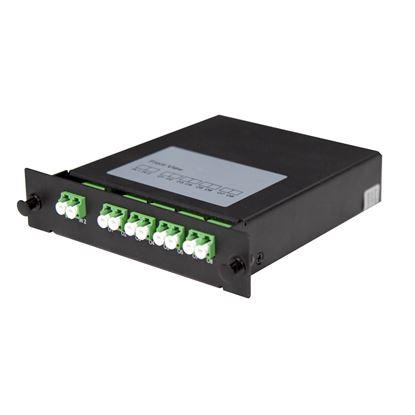 Picture of DYNAMIX PLC Fibre Optic 2:8 LC/APC Splitter Cassette Module.