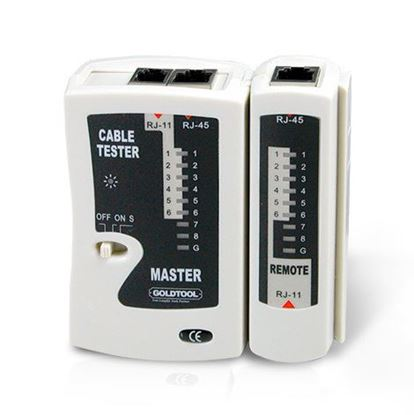 Picture of GOLDTOOL RJ45 LAN Data Cable Tester Quickly & Easily Check for Cable