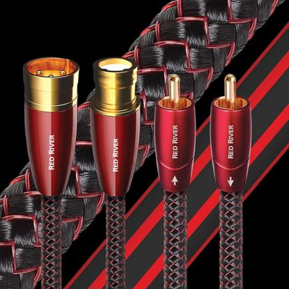 Picture of AUDIOQUEST Red River 4M  1 to 1 RCA male. Solid perf surface copper