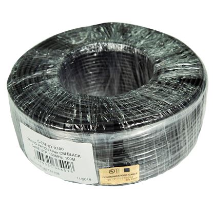 Picture of DYNAMIX 100m Cat5e Black UTP STRANDED Cable Roll 100MHz,
