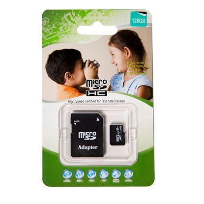 Picture of 128GB Micro SD High-Speed Certified Flash Card with Adapter