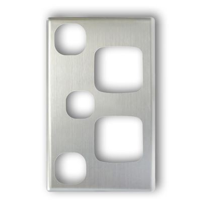 Picture of TRADESAVE Double 10A Vertical Power Point with Extra 16A Switch.