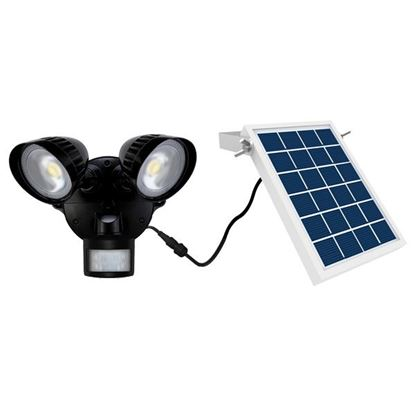 Picture of HOUSEWATCH 8W Twin 2x Spotlights with Motion Sensor & Solar Panel.