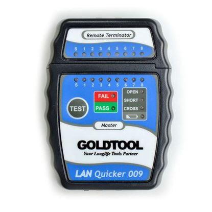 Picture of GOLDTOOL LAN Quick Tester. Test RJ45/UTP, RJ45 / STP Cabling.
