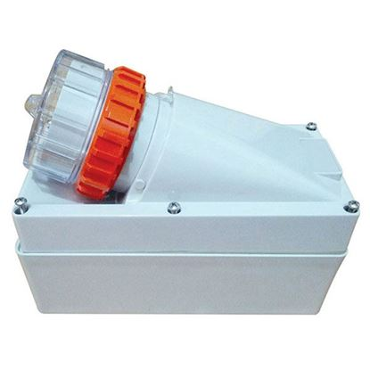 Picture of TRADESAVE Appliance Inlet 3 Pin 15A Flat, IP66, Stainless