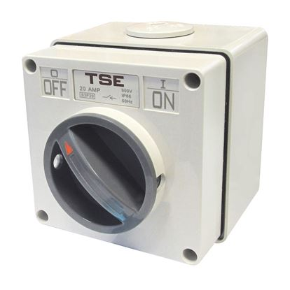Picture of TRADESAVE Weatherproof Switch, 2 Pole 10A, IP66 Rating, Stainless