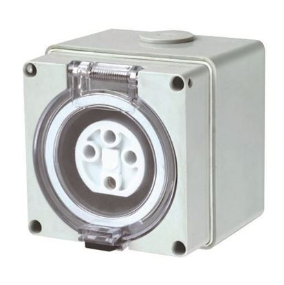 Picture of TRADESAVE Weatherproof Socket 4 Pin 32A, Round, IP66, Stainless