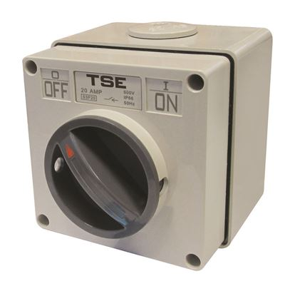Picture of TRADESAVE Weatherproof Switch, 2 Pole 20A, IP66 Rating, Stainless