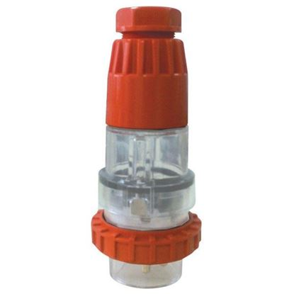 Picture of TRADESAVE Extension Plug Straight 3 Pin 32A Round , IP66, Stainless