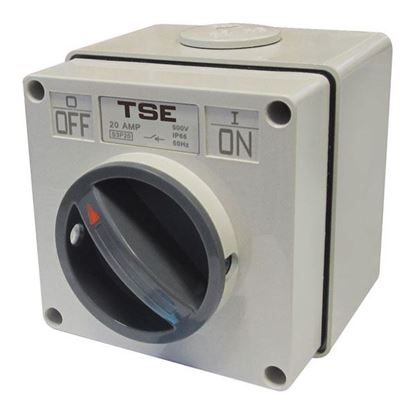 Picture of TRADESAVE Weatherproof Switch, 3 Pole 32A, IP66 Rating ,Stainless