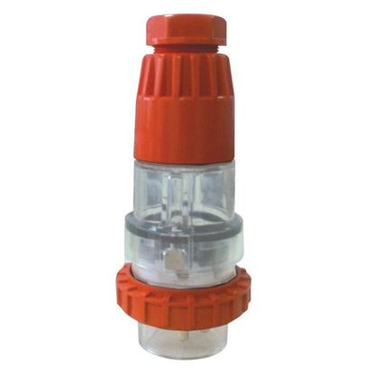Picture of TRADESAVE Extension Plug Straight 3 Pin 10A Flat, IP66, Stainless