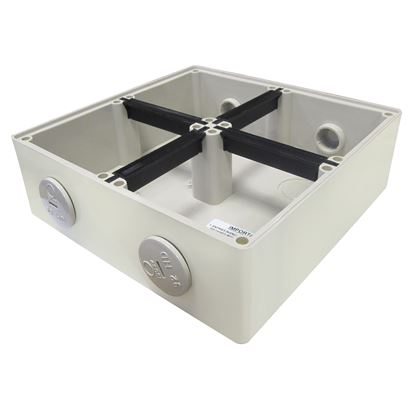 Picture of TRADESAVE Mounting Base 4 Gang IP66, Stainless Steel Cover