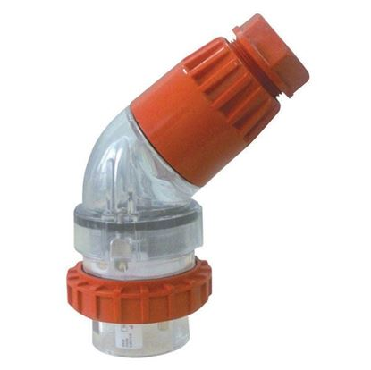 Picture of TRADESAVE Extension Plug Angled 4 Pin 20A Round, IP66, Stainless