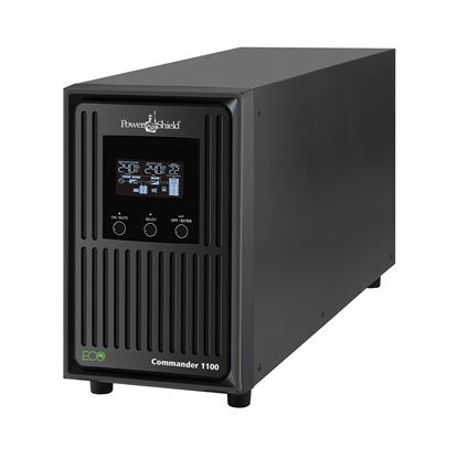 Picture of POWERSHIELD Commander 1100VA Line Interactive Tower UPS. Delivers