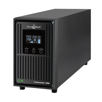 Picture of POWERSHIELD Commander 2000VA Line Interactive Tower UPS. Delivers