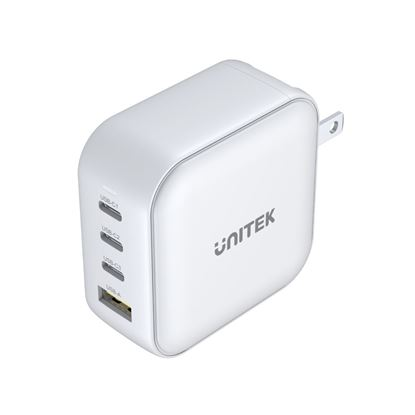 Picture of UNITEK 100W 4-in-1 Travel Charger with USB-C PD up to 100W. 3 x USB-C