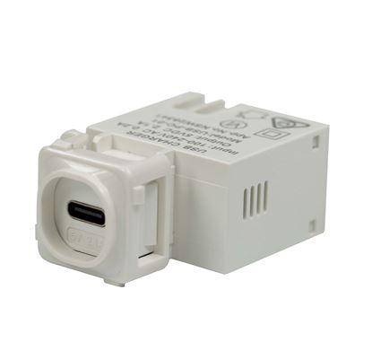 Picture of DYNAMIX USB-C 2.1A Keystone Charging Mech.
