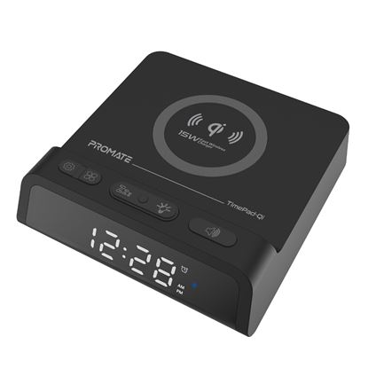 Picture of PROMATE Bedside LED Alarm Clock with 10W Qi Charging Station.