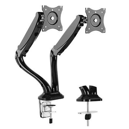 Picture of BRATECK 13'-27' Dual Monitor Counter Balance Desk Mount. Max