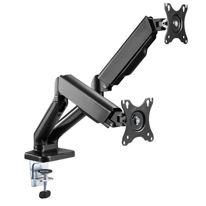 """Picture of BRATECK Elegant Dual 17""""-32"""" Counter Balance Monitor Desk Mount."""