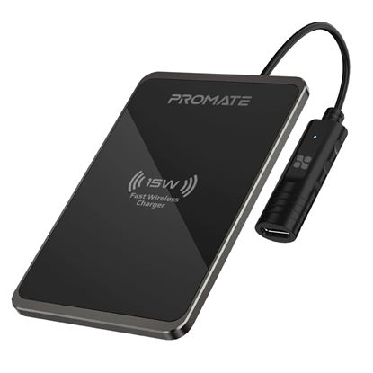 Picture of PROMATE 15W Quick Charging Ultra Slim Wireless Qi Charging Pad.
