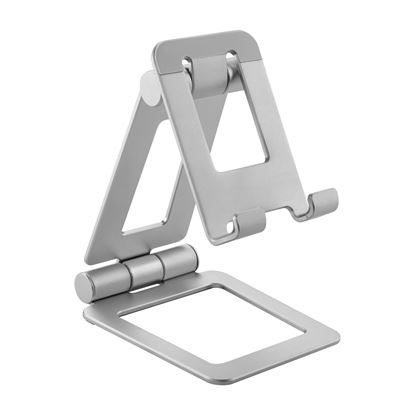 Picture of BRATECK Adjustable Aluminium Stand for Phones & Tablets. Foldable