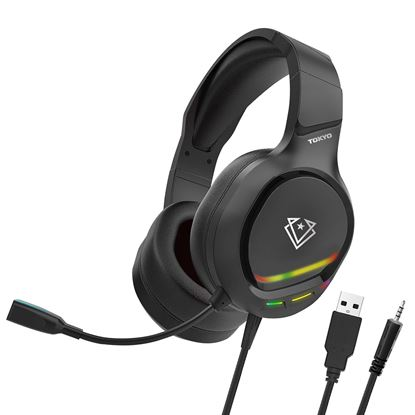 Picture of VERTUX Gaming Amplified Over Ear Headset with Padded Headband.