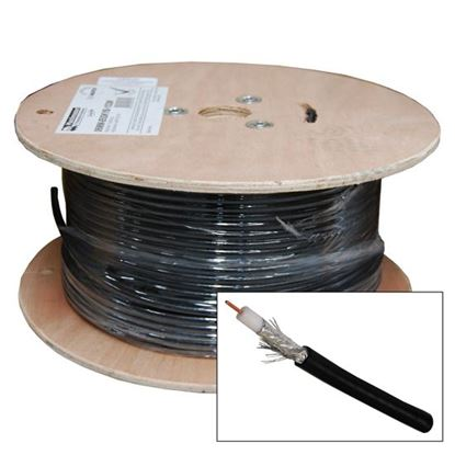 Picture of 100M Roll RG6 Shielded Cable Black