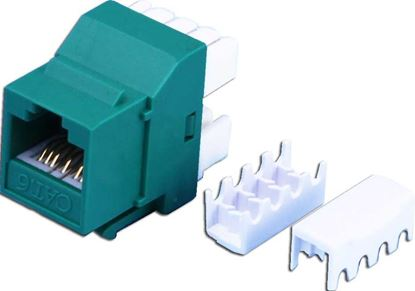 Picture of DYNAMIX Cat6 GREEN Keystone RJ-45