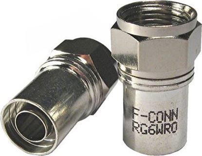 Picture of MATCHMASTER RG6 F-Connector (Male) , Radial Sky Approved. Crimp