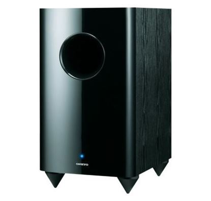 "Picture of ONKYO 10"" 120W Bass Reflex Down Firing Powered Subwoofer. Gloss"