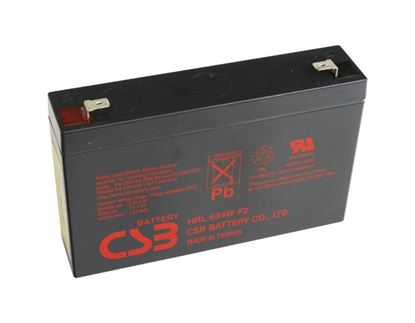 Picture of 6V 34W Replacement Battery. Suites 5P Rackmounts.