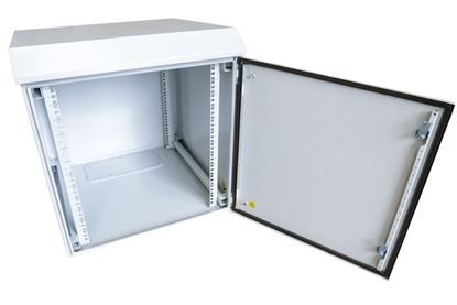 Picture of 6RU Outdoor Wall Mount Cabinet.